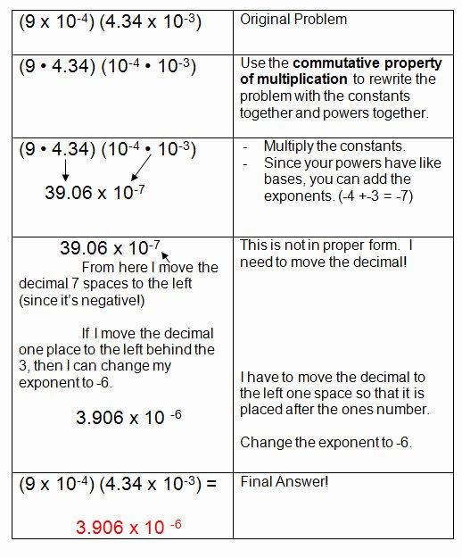 Multiplying Scientific Notation Worksheet Awesome Multiplying and Dividing Scientific Notation Worksheet