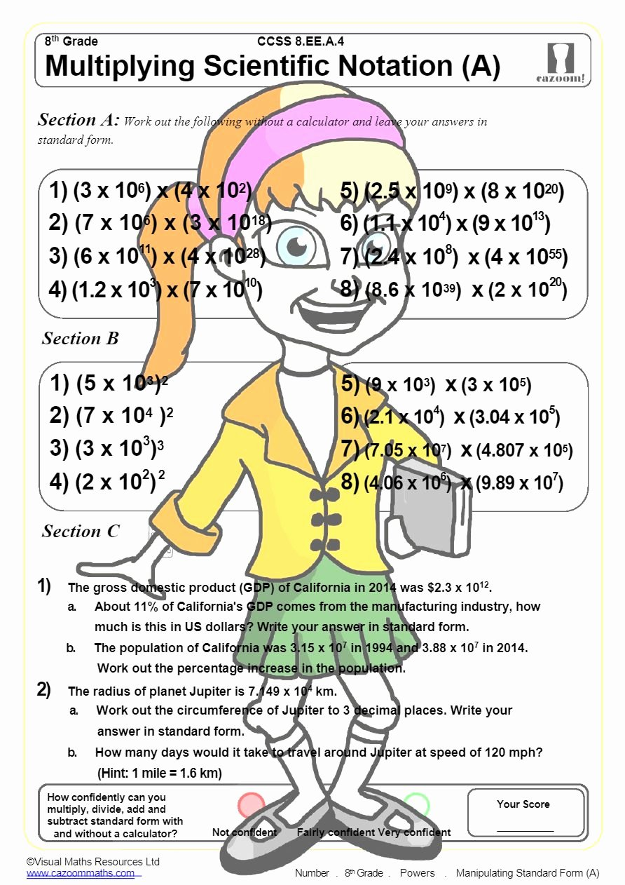 Multiplying Scientific Notation Worksheet Awesome Powers Math Worksheets