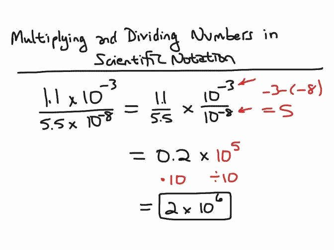 Multiplying Scientific Notation Worksheet Elegant Multiplying and Dividing Scientific Notation Worksheet