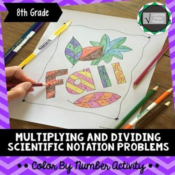 Multiplying Scientific Notation Worksheet Luxury Multiplying and Dividing Scientific Notation Problem Color