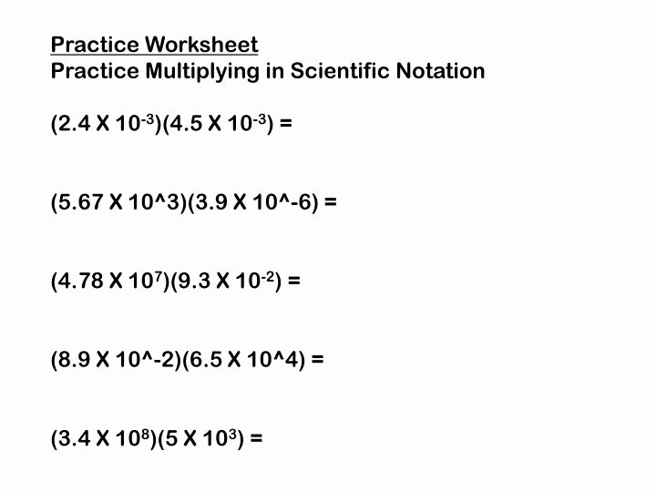 Multiplying Scientific Notation Worksheet Luxury Ppt Multiplying and Dividing In Scientific Notation