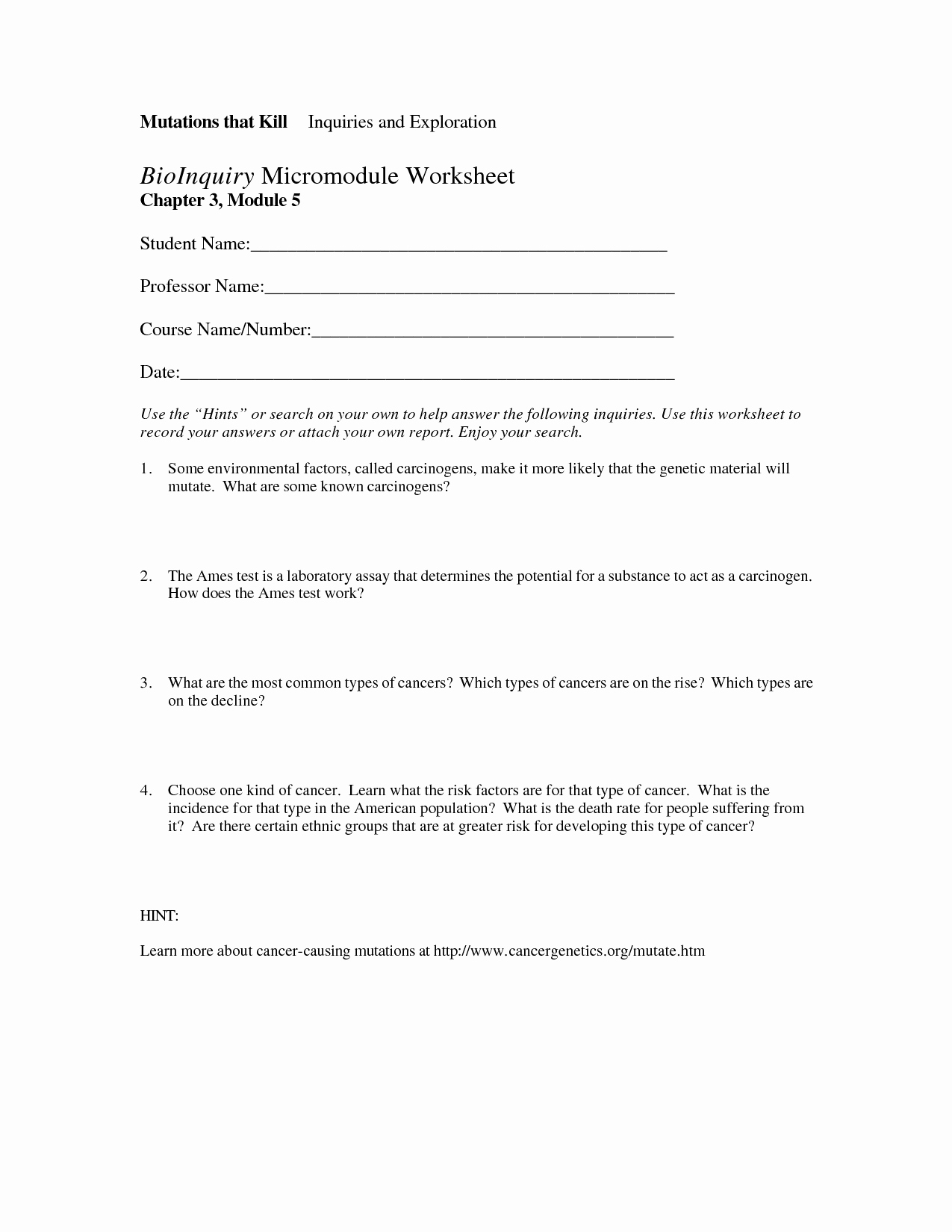 Mutations Worksheet Answer Key Luxury 19 Best Of the Genetic Code Worksheet Answers