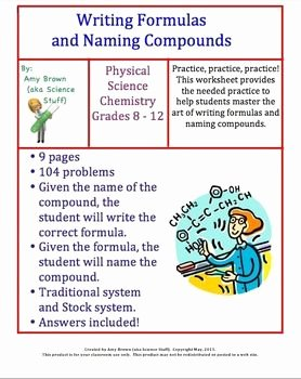 Naming Compounds Practice Worksheet Inspirational Homework Chemical formula and Writing On Pinterest