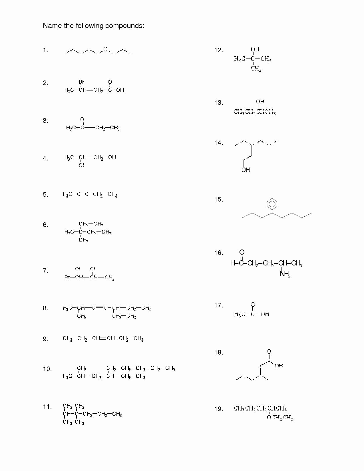 Naming Compounds Practice Worksheet Lovely 15 Best Of Naming Pounds Worksheet Key