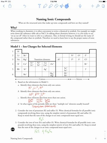Naming Ionic Compounds Worksheet Answers Unique Lab Safety Naming Ionic Pounds Pogil