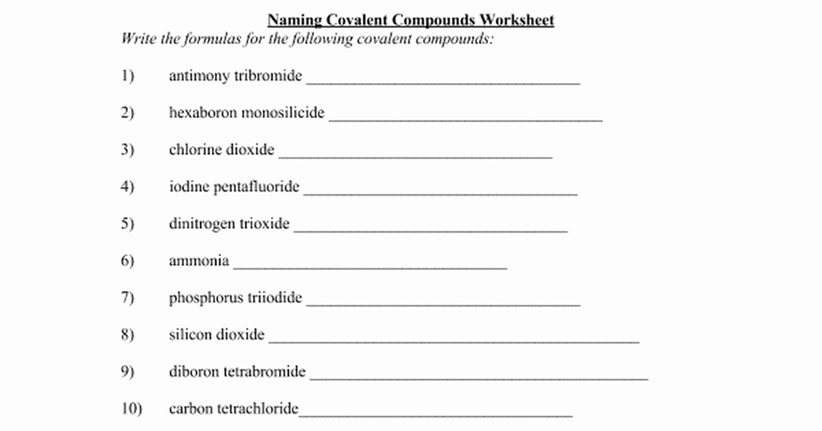 Naming Molecular Compounds Worksheet Awesome Mystreamingub Page 2 Of 194 Worksheet Collection Ideas