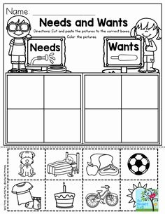Needs and Wants Worksheet Elegant I Can sort Needs and Wants Picture Worksheet