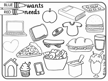 Needs and Wants Worksheet Fresh Wants and Needs Fold&learn by Lita Lita