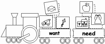 Needs and Wants Worksheet Inspirational Literacy Ideas for A Train theme