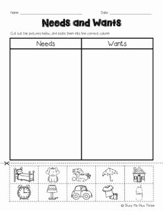 Needs and Wants Worksheet Luxury 1000 Images About 1st Grade Ela On Pinterest
