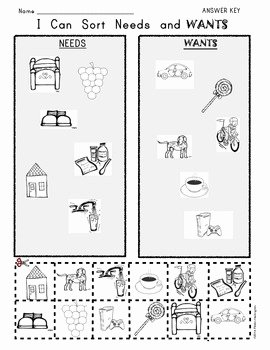 Needs Vs Wants Worksheet Fresh I Can sort Needs and Wants by Class Of Kinders