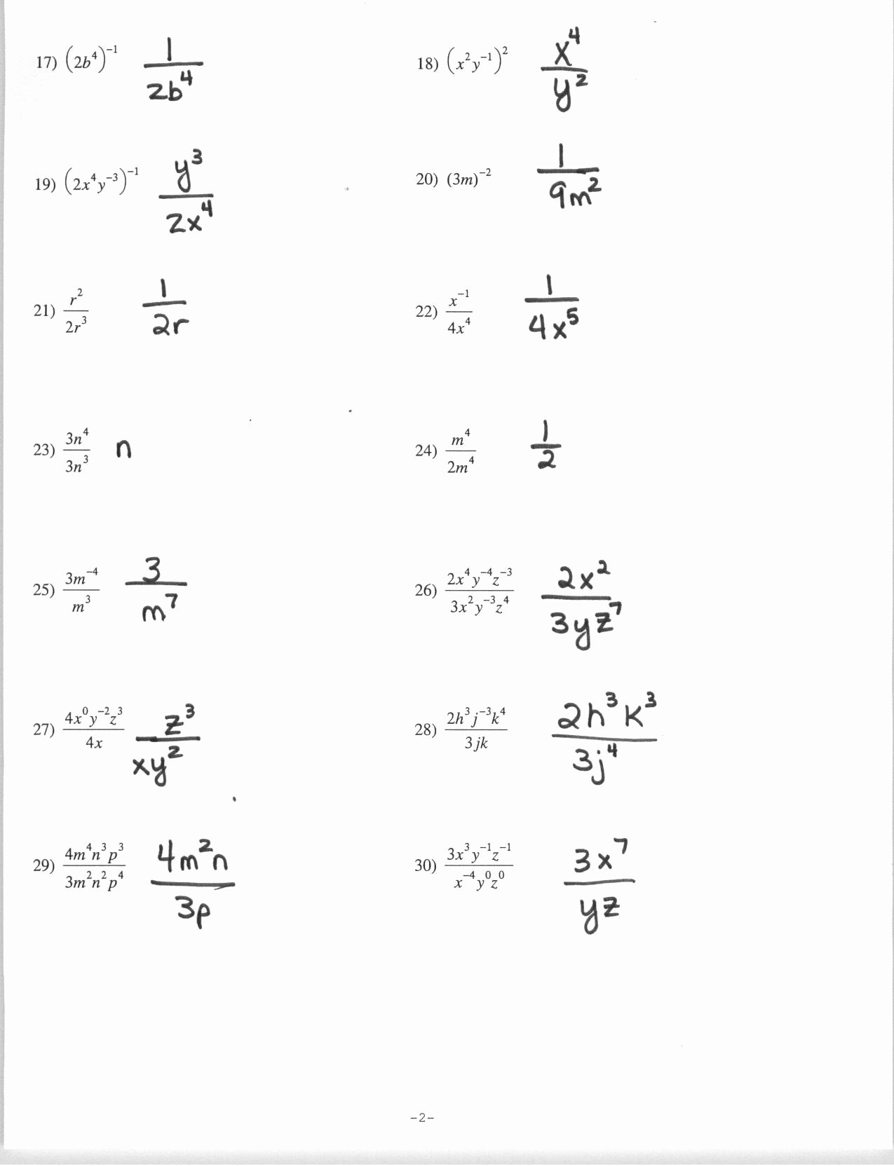 Negative Exponents Worksheet Pdf Awesome Exponents Worksheet Grade 7 Pdf