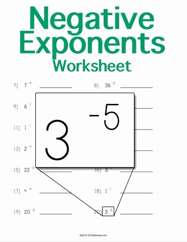 Negative Exponents Worksheet Pdf Luxury Customizable and Printable Negative Exponents Worksheet