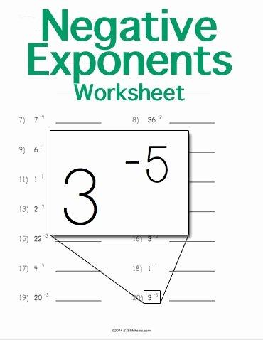 Negative Exponents Worksheet Pdf Luxury Customizable and Printable Negative Exponents Worksheet