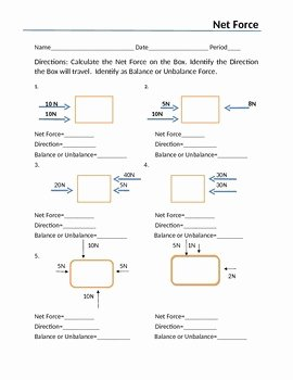 Net force Worksheet Answers Fresh Net force and force Diagrams 8thgrade