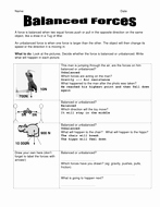 Net force Worksheet Answers Inspirational Balanced forces Worksheet by Seasonticket
