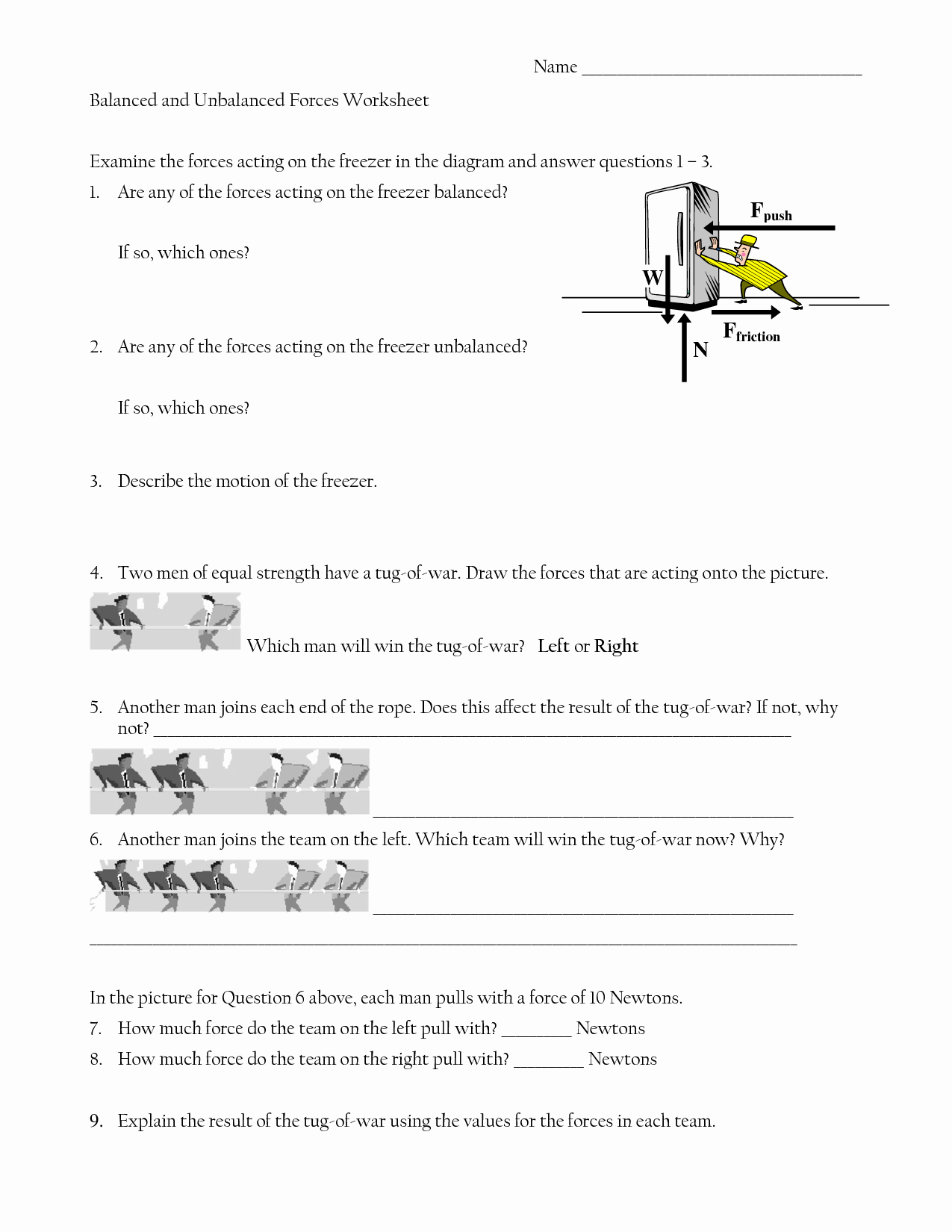 post force diagrams worksheets with answers