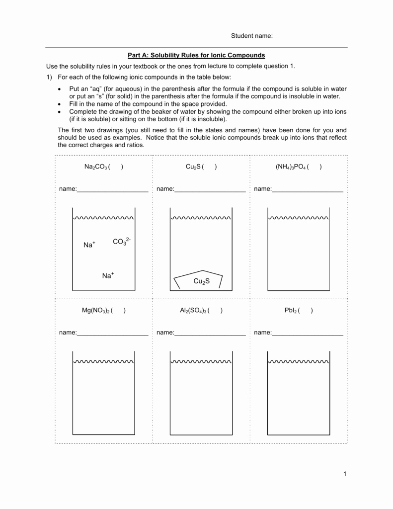 Net Ionic Equations Worksheet Luxury Net Ionic Equation Worksheet