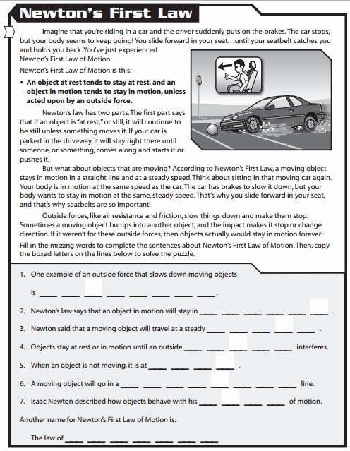 Newton Laws Worksheet Answers Elegant Q4old Mrs Bhandari S Grade 7 Science