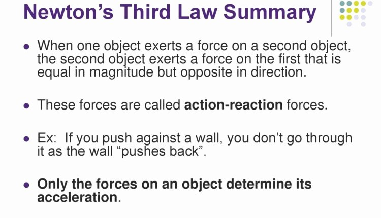 Newton's 3rd Law Worksheet Inspirational Amazing Unit Two Dynamics Newton S Third Law Ppt Download