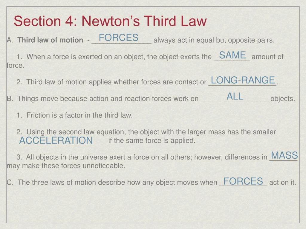 Newton's 3rd Law Worksheet Luxury Download This Ppt Newton S Laws Motion Powerpoint