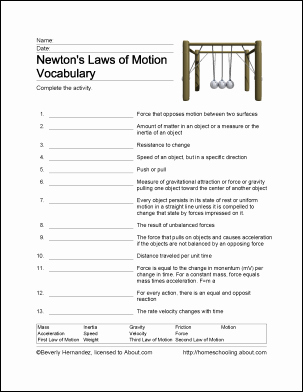 Newton's Laws Of Motion Worksheet Beautiful Fun Ways to Learn About Newton S Laws Of Motion