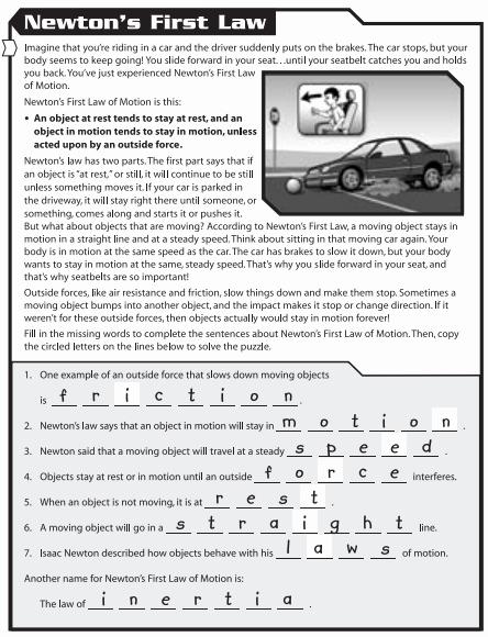 Newton's Laws Of Motion Worksheet Beautiful Week 6 Mrs Bhandari S Grade 7 Science
