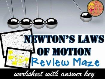 Newton's Laws Of Motion Worksheet Fresh Newton S Laws Of Motion Maze Worksheet by the Trendy
