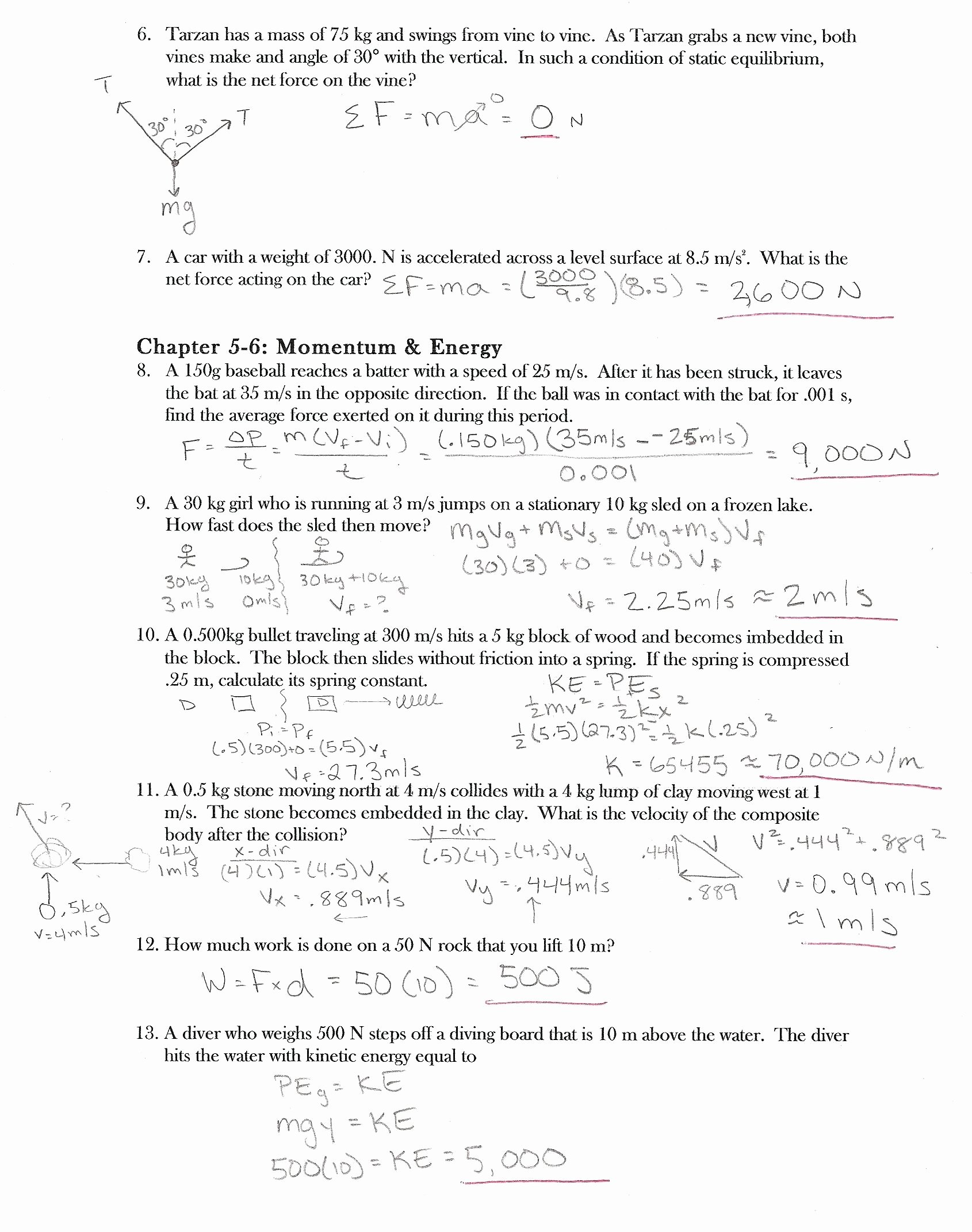 Newton's Laws Review Worksheet Answers Beautiful 3 4 Newtons Second Law Examples Salescv Info Newtons