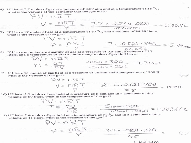 Newton's Laws Review Worksheet Answers Best Of Gas Law Review Worksheet Answers Free Printable Worksheets
