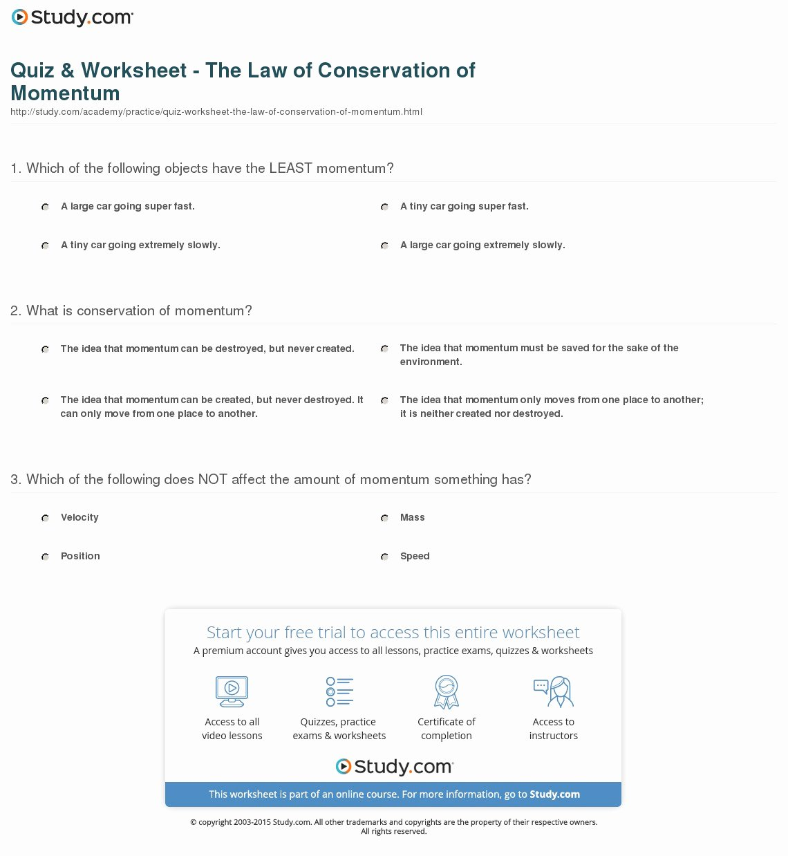 Newton's Laws Review Worksheet Answers Lovely 4 2 Conservation Momentum Worksheet Answers