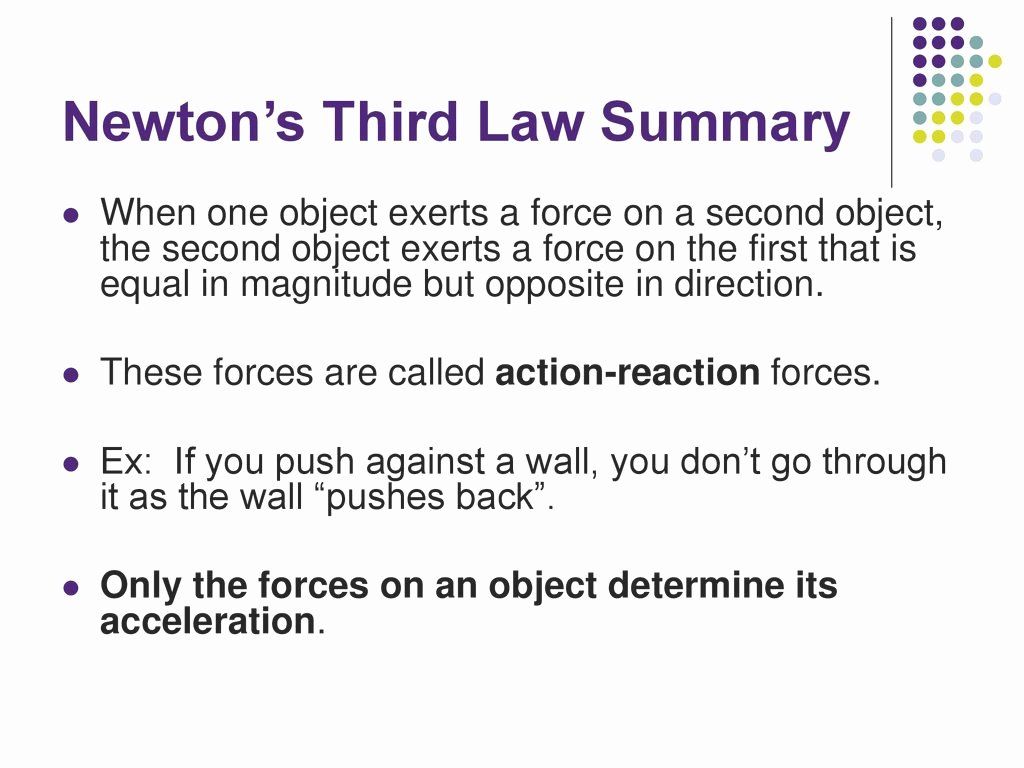 Newton's Second Law Worksheet New Amazing Unit Two Dynamics Newton S Third Law Ppt Download