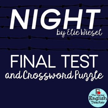 Night Elie Wiesel Worksheet Answers Inspirational Night by Elie Wiesel Test and Crossword Study Guide