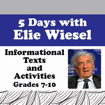 Night Elie Wiesel Worksheet Answers Lovely Night Elie Wiesel Biography Informational Texts Activities