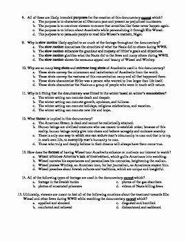 Night Elie Wiesel Worksheet Answers Lovely Oprah Elie Wiesel Auschwitz Death Camp Worksheet Answer