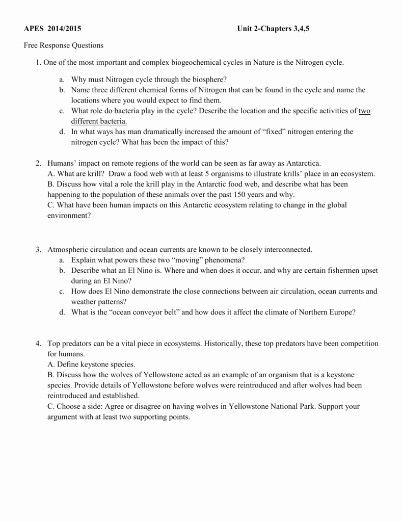 Nitrogen Cycle Worksheet Answer Key Best Of Biogeochemical Cycles Webquest Answer Key