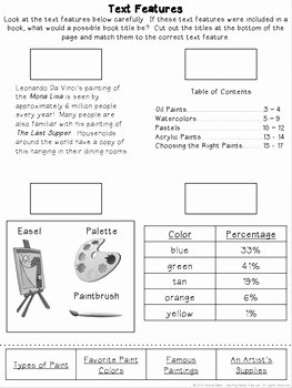 Nonfiction Text Features Worksheet Best Of Nonfiction Text Features Activities Reading Passages and