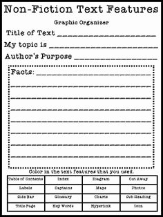 Nonfiction Text Features Worksheet Lovely 12 Best Of Read to Self Worksheet Character