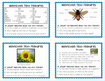 Nonfiction Text Features Worksheet Lovely Nonfiction Text Features Flip Book 32 Task Cards Bingo