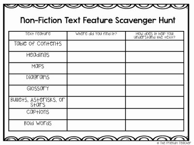 Nonfiction Text Features Worksheet New Teaching Nonfiction Text Features the Fun Way with A