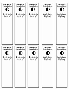 Notice and Note Signposts Worksheet Awesome Notice and Note Fiction Signpost Bookmarks by Upper