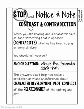 Notice and Note Signposts Worksheet Awesome Notice and Note Signpost Tabbed Booklet Fiction