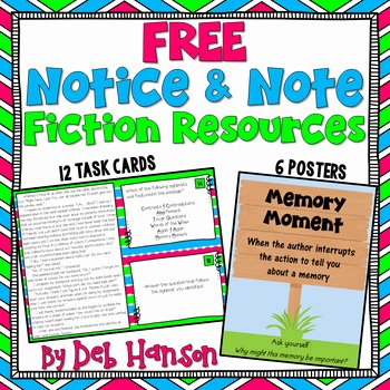 Notice and Note Signposts Worksheet Beautiful Notice and Note Signposts Free Posters and Task Cards by