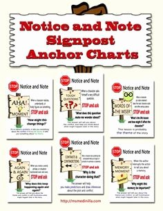 Notice and Note Signposts Worksheet Best Of Reading On Pinterest