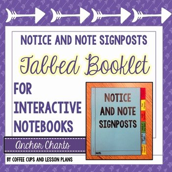 Notice and Note Signposts Worksheet Lovely Notice and Note Signpost Tabbed Booklet Fiction
