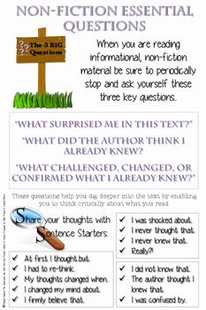 Notice and Note Signposts Worksheet Luxury Notice and Note Non Fiction Anchor Charts by All About the