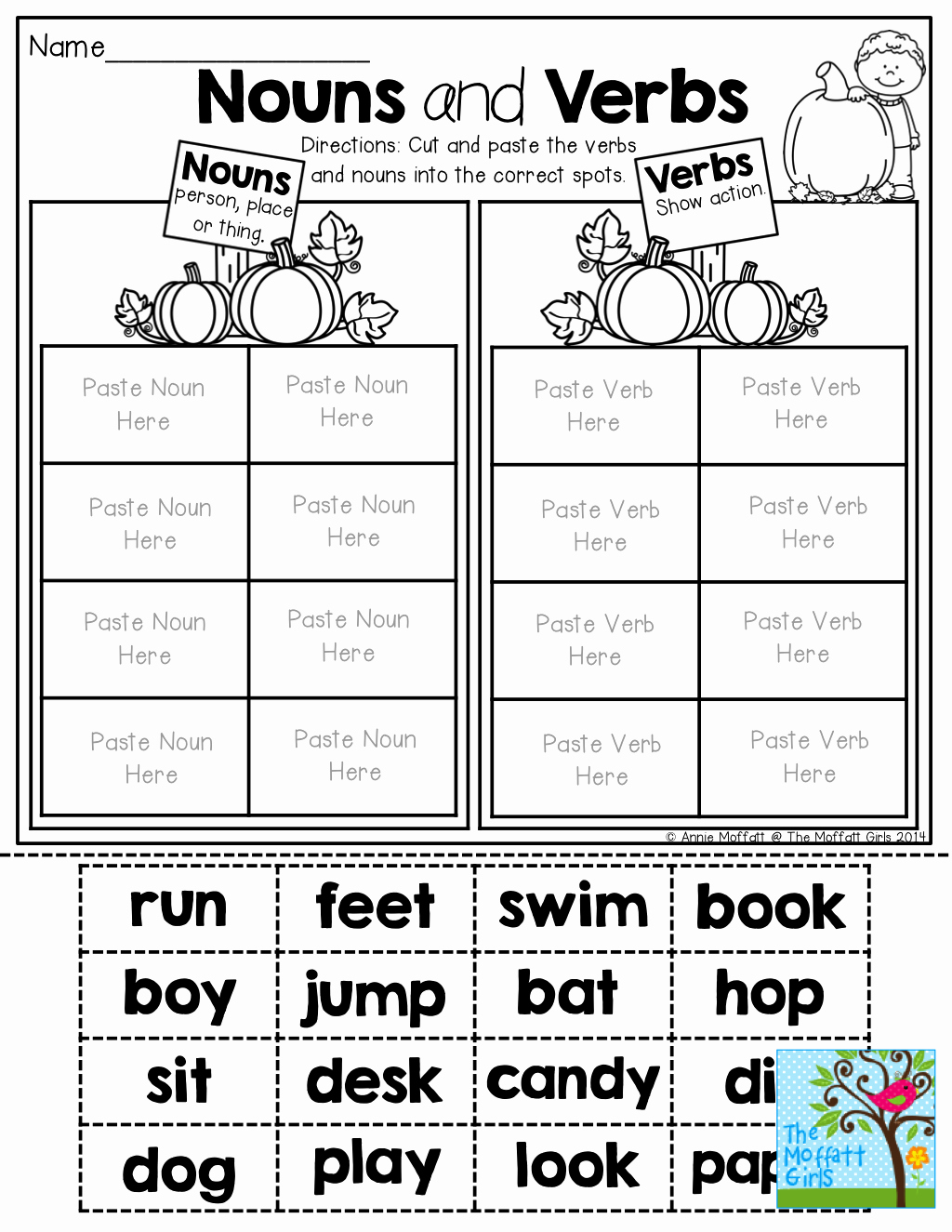 Noun Verb Adjective Worksheet New Nouns and Verbs sorting tons Of Fun Printables