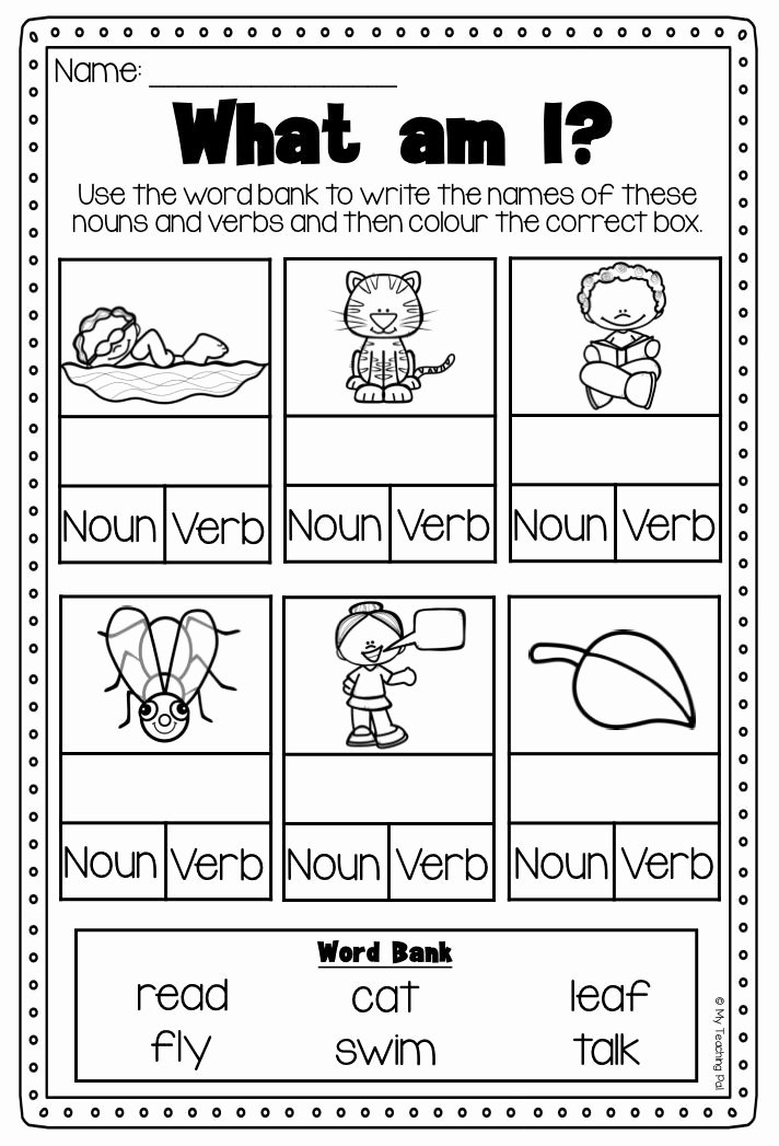 Nouns and Verbs Worksheet Inspirational Verbs Worksheet It Covers Action Verbs Past Present