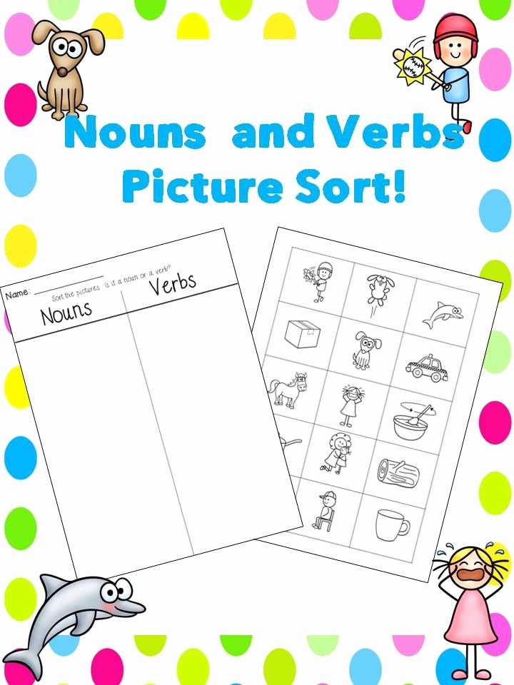Nouns and Verbs Worksheet Lovely Free Nouns and Verbs sort
