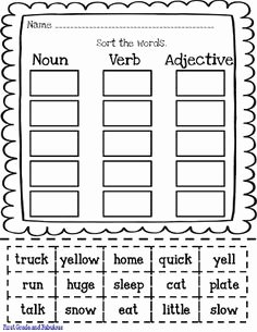 Nouns Verbs Adjectives Worksheet Beautiful 1000 Images About Adjectives Nouns Pronouns Verbs On
